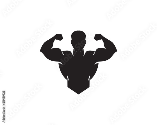Fitness Logo Design vector illustrationicon