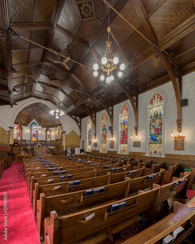 Tuinposter Restaurant St. Andrew's Presbyterian Church of Lunenburg, Nova Scotia