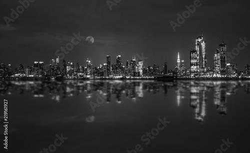 Fototapety, obrazy: Manhattan Skyline Black and White