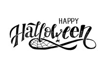 Happy Halloween Lettering Call...