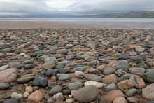Pebbled Beach Leading To The M...