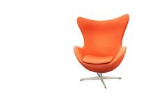 Orange Fabric Swivel Armchair ...