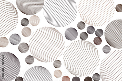 Shape of messy random line circles, abstract geometric background pattern. Effect, canvas, art & creative.