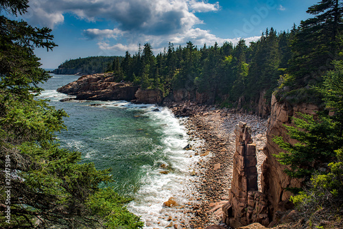 Photo sur Toile Brun profond Monument Cove, Acadia National Park