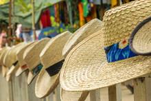 Summer Beach Hats On Display A...
