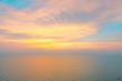 Bright sunrise or sunset over the beach an impressive