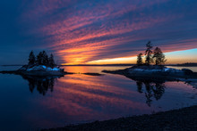 Harpswell Winter Sunset, Maine