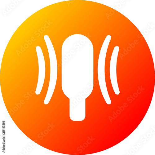 Fotografie, Obraz  Vector onda de radio señal