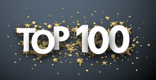 Top 100 Sign With Gold Stars. ...