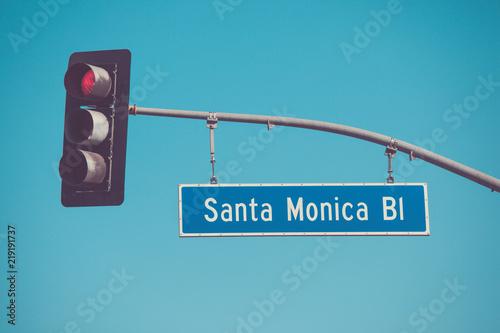 Santa Monica Blvd road sign