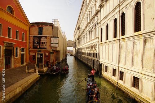 Fotografie, Obraz  Gondolas in the canal near San Marco