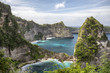 Small bays and hidden beaches at the Raja Lima islands on Nusa Penida, Indonesia.