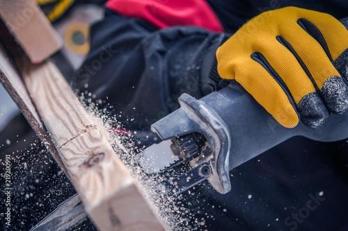 Fotografie, Obraz  Reciprocating Saw Closeup