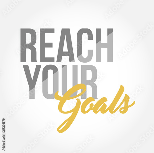 reach your goals stylish typography copy message Canvas Print