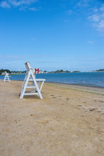 Lifeguard Stands On Empty Beac...