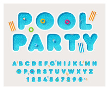 Vector Pool Font. Rounded Lett...