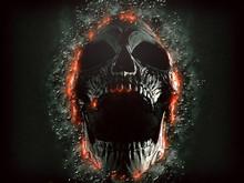Dark Screaming Skull Emerging ...
