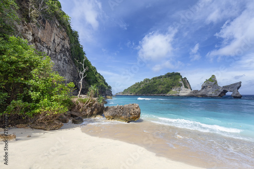 Fototapety, obrazy: Remarkable view of part of Atuh Beach and rock formations on Nusa Penida in Indonesia.