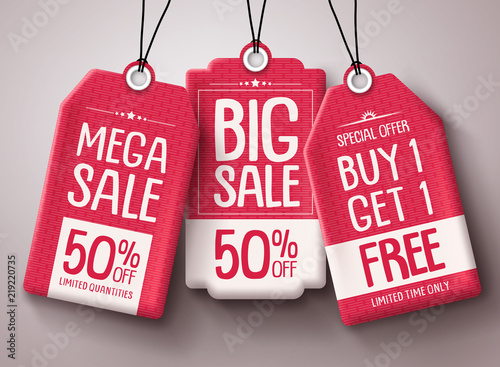 Fotomural Sale price tag vector set