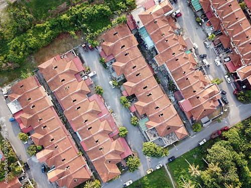 Photo Aerial view of residential area in Selangor.