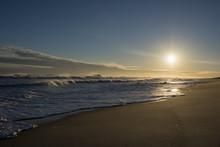 Amagansett Hamptons, Ny Summer Beach At The End Of A Day