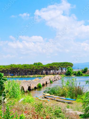 Photo  Roman Bridge of Fertilia, Alghero, Sardinia.