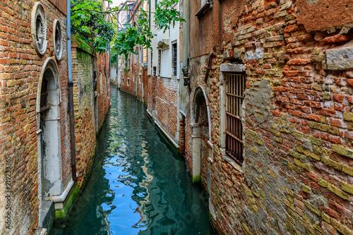 Fotografie, Obraz  Narrow streets and canals of Venice Italy