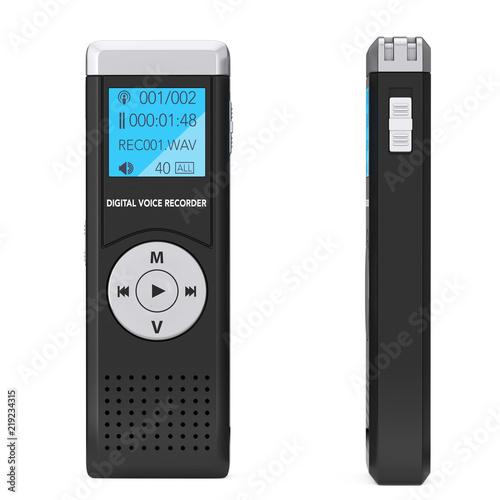 Journalist Digital Voice Recorder or Dictaphone. 3d Rendering Canvas Print