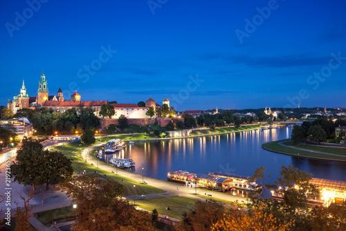 Fototapeta Krakow aerial castle obraz