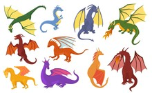 Dragon Cartoon Vector Cute Dra...