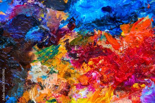 paleta kolorów oleju o żywych kolorach