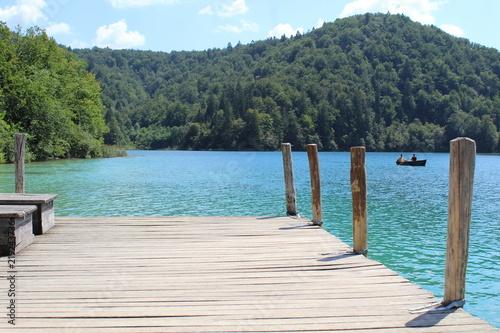 Molo sul Lago nel Parco Nazionale di Plitvice - Croazia