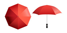 Red Umbrella Vector Illustrati...