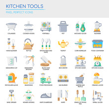 Kitchen Tools , Thin Line And ...