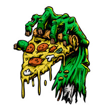 Zombie Hand With Pizza