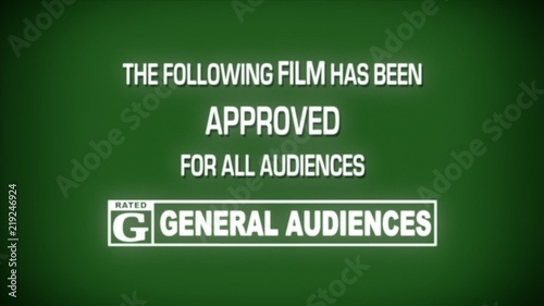 A fake spoof retro vintage aged film leader for a movie reel: approved, rating G (general audiences) Canvas Print