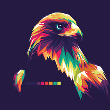 Eagle Vector Pop Art Illustrat...