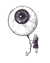 The Girl With The Eyeball In A...