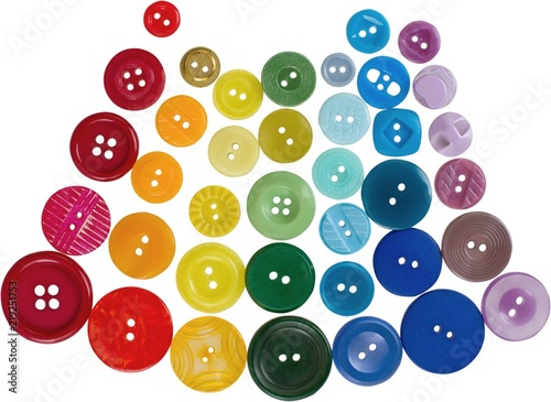 Poster Macarons Assortment of buttons of many different colors