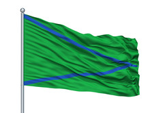 Patia City Flag On Flagpole, C...