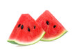 canvas print picture - Slice of watermelon on white background