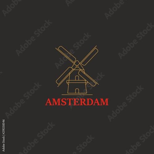 Photo  Mill vector icon