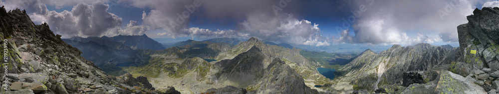 Fototapety, obrazy: Panorama Kozi Wierch - Tatry