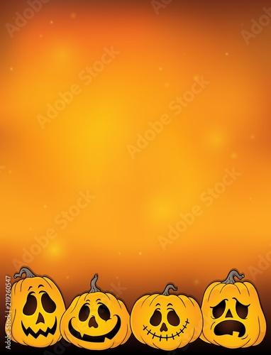 Foto op Canvas Voor kinderen Halloween pumpkins thematics image 2