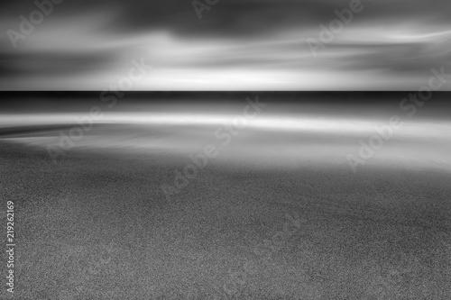 Fényképezés  Wave over sand on Cornish beach