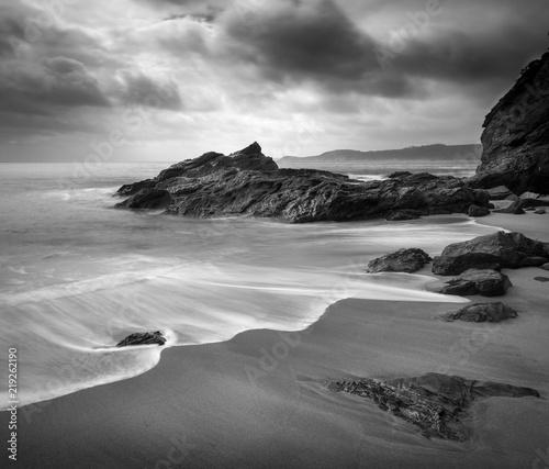 Vászonkép Beach Contrasts, Carlyon Bay, Cornwall