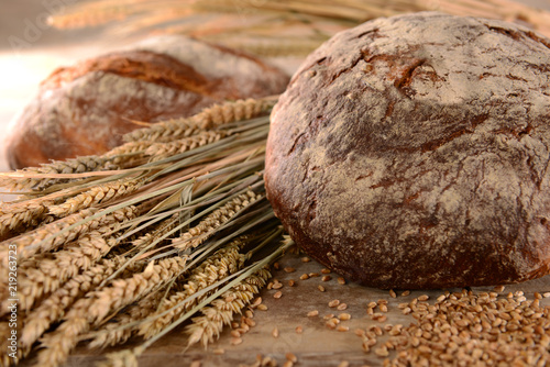 Leinwand Poster Brot Getreide