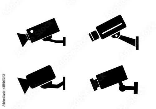 Fototapeta kamera przemysłowa ikona zestaw obraz