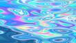 canvas print picture - Holographic pastel and neon color surface with iridescent abstract effect.