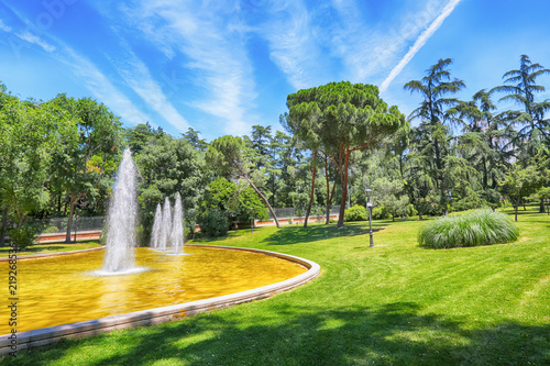 Park De Alenas, Madrid Canvas Print